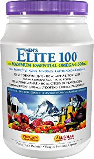Andrew Lessman Multivitamin - Men's Elite-100 with Maximum Essential Omega-3 500 mg 120 Packets – 40+ Potent Nutrients, Es...