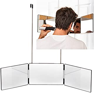 The Barbering Co. 3 Way Mirror | Trifold Mirror for Self Hair Cutting and Styling for Men | DIY Haircut Tool to Cut, Trim,...