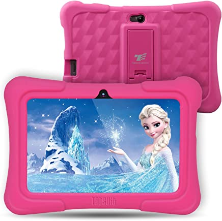 Dragon Touch Y88X Plus 7 inch Kids Tablet, Kidoz Pre-Installed Disney Content (More Than $80 Value) Pink