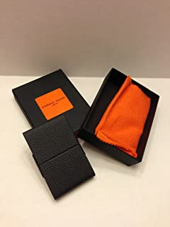 Giorgio Fedon 1919 - Italy Leather Black Businesses Credit Card Case Holder