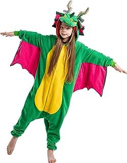 Unisex Child Pajama Plush Onesie One Piece Dragon Animal Costume