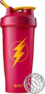BlenderBottle Justice League Superhero Classic 28-Ounce Shaker Bottle, Flash