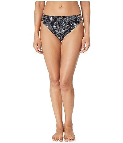 MICHAEL Michael Kors Sweetheart Paisley High-Waisted Bikini Bottoms (Black) Women