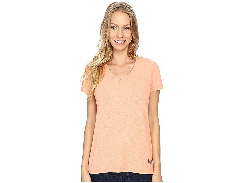 Jack Wolfskin Travel Hoodie T-Shirt (Apricot Pastel) Women