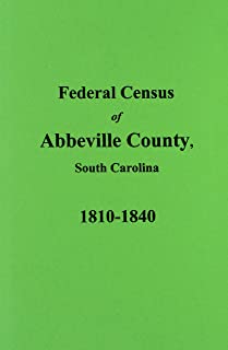 Abbeville County, S.C. Federal Census for 1810-1840