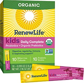 Renew Life, Probiotic Kids Boost Organic, 0.09 Ounce, 30 Count