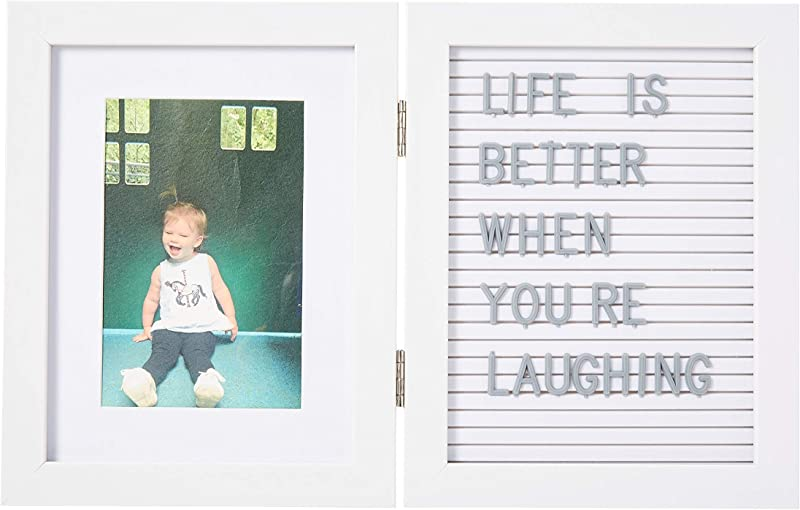 Kate Milo Baby S Letterboard Picture Frame White