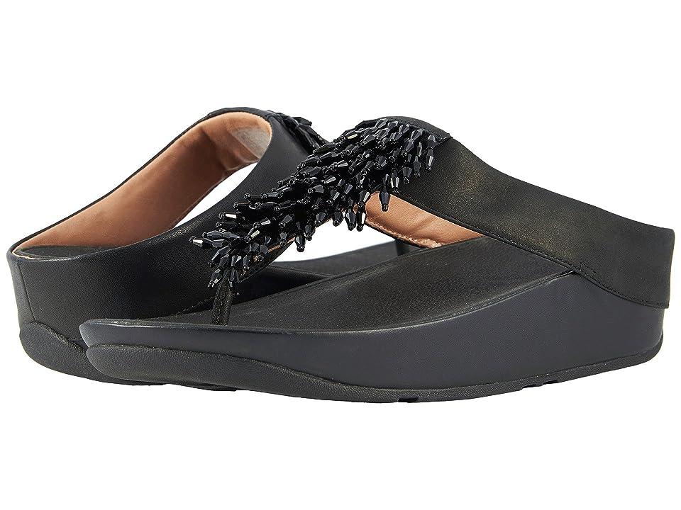 FitFlop Rumba Toe Thong Sandals (Black) Women