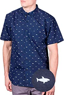 Mens Short Sleeve Button Down Printed Shirts - Over 45 Novelty Prints Sizes S - 4XL