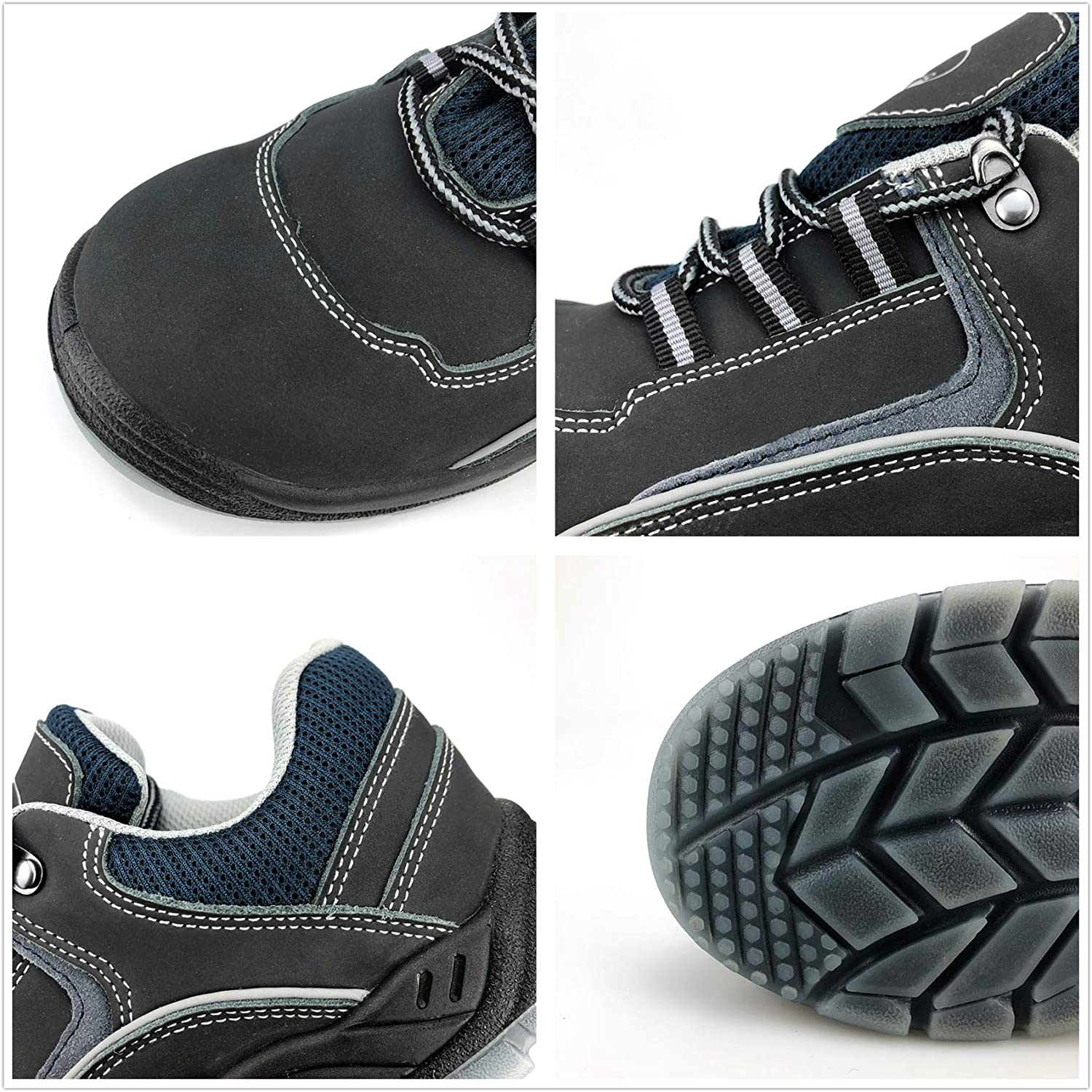 SYLPHID Steel Toe Shoes Work Safety Shoes for Men and Women Breathable Industrial /& Construction Sneakers Puncture Proof Footwear