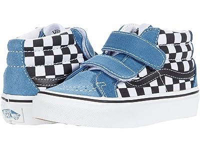 Vans Kids SK8-Mid Reissue V (Little Kid) ((Checkerboard) Black/Navy) Boys Shoes