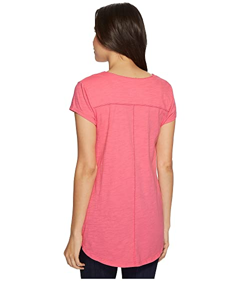 cuello o rosa en camiseta y faldón Mod Slub doc camisero parfait cosido con v con XTxwdA