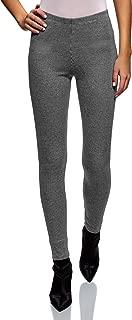 oodji Ultra Women's Jersey Leggings with Houndstooth Pattern