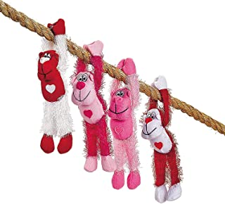 Fun Express Plush Long Arm Valentine Gorillas (1 DZ) Valentine's Day, Classroom Giveaways, Plush