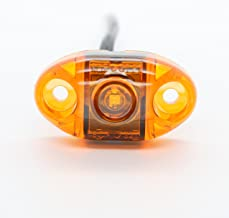 TecNiq, Inc LED Oval Surface Mount Side Marker Light - USA Made with, PC Rated (Amber)