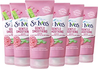 St. Ives Gentle Smoothing Face Scrub Our Gentlest Scrub Yet Rose Water Aloe Vera Made with 100 Natural Exfoliants Paraben ...