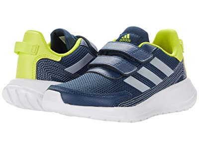 adidas Kids Tensaur Run (Little Kid) (Crew Navy/Halo Silver/Acid Yellow) Kid