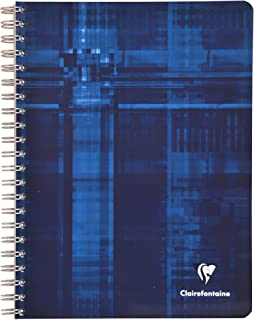 Clairefontaine Wire Bk 8.25X11.75 Graph/Tabs 224pgs/112 sheets.(Colors may vary)