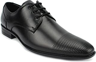 AvantHier Black Lace Up Classy Look Light Weight Official Genuine Leather Formal Shoes for Men/Boys
