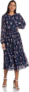 Vero Moda womens RITA LONG-SLEEVE O-NECK Dress
