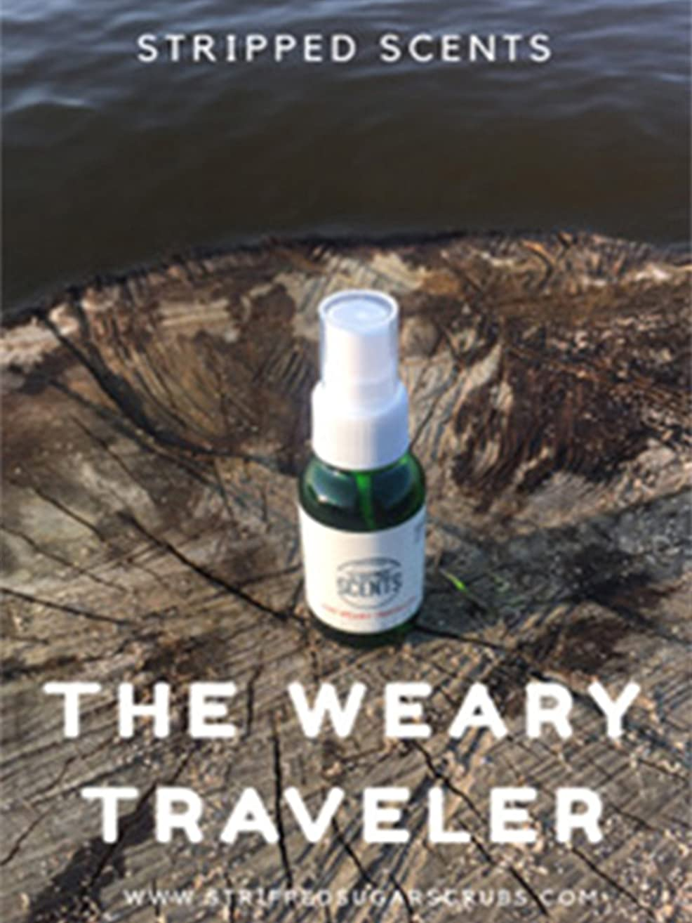 The Weary Traveler! 30ml/1oz Aromatherapy Spray & Body Mist - Stripped Scents For Energy and Mood Lift