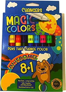 Magic Colors – Color Changing Pens –Washable, Non-Toxic, Long Lasting Pens that Change Color for Kids - Create 3D Letterin...