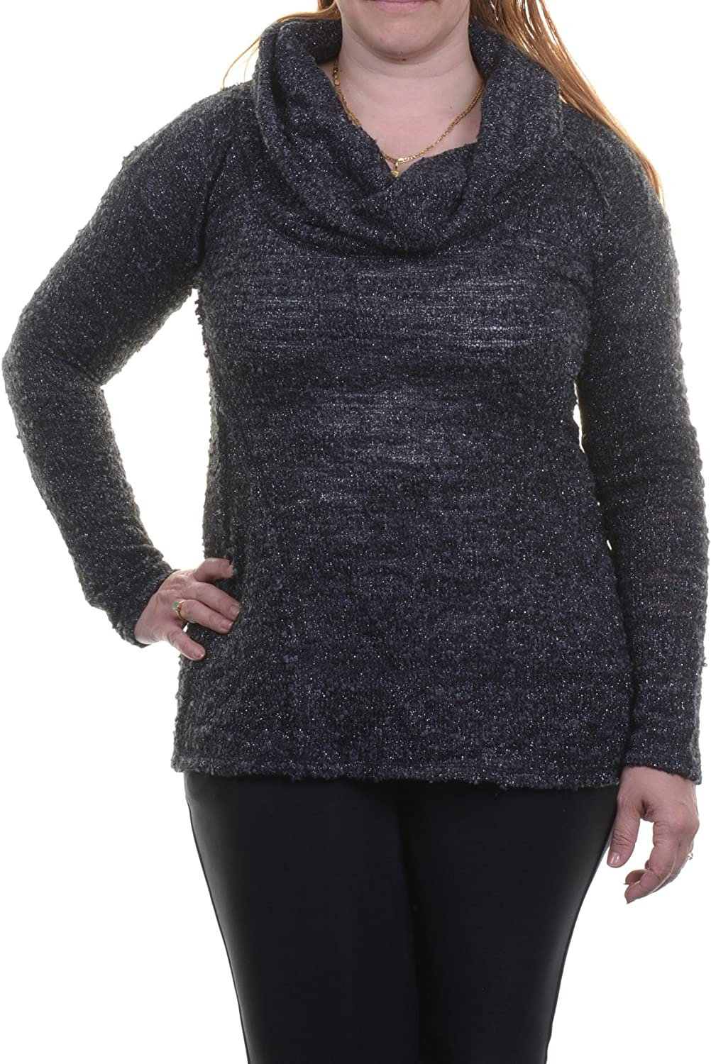Sanctuary Womens Metallic Knit Pullover Tampa Mall Sweater Black S High order