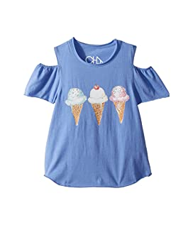 Extra Soft Ice Cream Cold-Shoulder Tee (Little Kids/Big Kids)