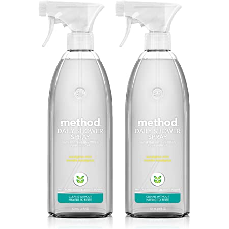 Method Daily Shower Spray Cleaner, Eucalyptus Mint, 28 Ounce, 2 pack, Packaging May Vary