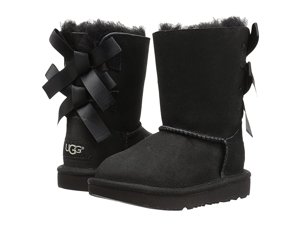 UGG Kids Bailey Bow II (Toddler/Little Kid) (Black) Girls Shoes