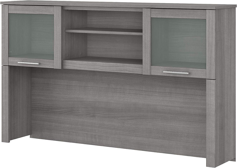 Bush Outlet sale feature Furniture Somerset Desk 60W Platinum Low price Hutch Gray