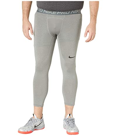 Nike Big Tall Pro 3/4 Tights (Carbon Heather/Dark Grey/Black) Men
