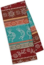 Design Imports Southwest Table Linens, 18-Inch by 28-Inch Dishtowel, Southwest Stripe Jacquard
