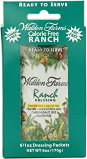 Walden Farms Dressing, Ranch,6 count,net weight 6 ounce