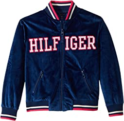 Tommy Hilfiger Kids - Velour Track Jacket (Big Kids)