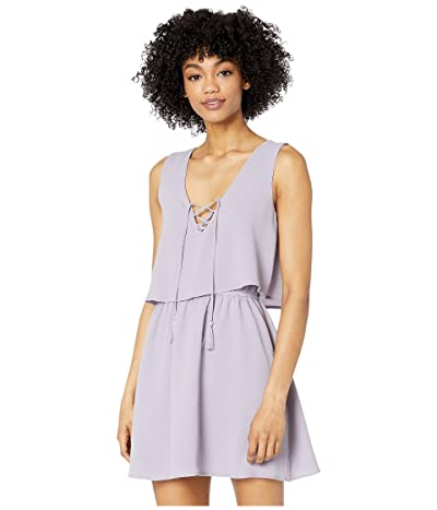 BB Dakota x Steve Madden Layered Bubble Crepe Flounce Dress with Lace-Up Women