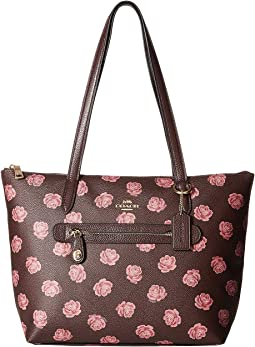 Taylor Tote in Floral Printed Leather