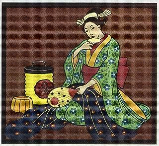 Art Needlepoint Warm Tea Geisha Needlepoint Canvas