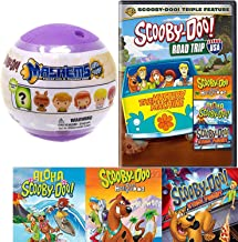 Mini Trip Scooby-Doo Mystery Spooky Case Movie RoadTrip USA Cartoon DVD pack & Aloha Scooby / Goes Hollywood / Stage Fright Solving Gang + Soft Figure 2 Pack