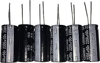 2200uF 50V 16X30 +/-20% -40-+105℃ 6 PCS Aluminum Electrolytic Capacitors