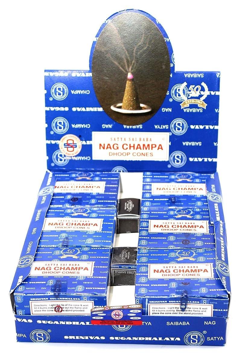 課税繁雑近傍Nag Champa Satya Sai Baba Temple Incense Cones Carton, 12 Box by Nag Champa [並行輸入品]