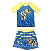 Infant Boy Finding Nemo 2 Piece Rash Guard Rashguard Swim Shirt and Swim Trunk Set 12 Months