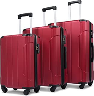 Merax 3 Piece Luggage Sets Expandable ABS Spinner Suitcase with TSA Lock 20 inch 24 inch 28 inch