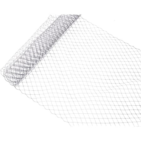 Russian Birdcage Veil Millinery Netting 10 Wide Gray Sold by the Yard