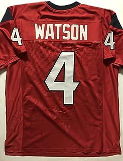 Unsigned Deshaun Watson Houston Red Custom Stitched Football Jersey Size XL New No Brands/Logos