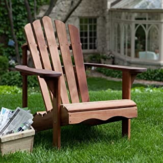 Coral Coast Coral Coast Richmond Deluxe Adirondack Chair, Brown, Wood, 31.5W x 36D x 36H in.