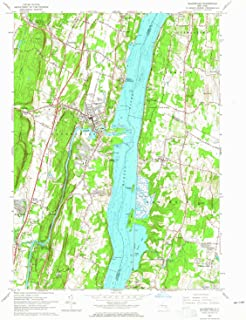 YellowMaps Saugerties NY topo map, 1:24000 Scale, 7.5 X 7.5 Minute, Historical, 1963, Updated 1965, 27 x 22.1 in