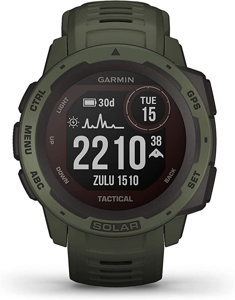 Garmin solar tactical, moss - smartwatch gps ultra-resistente con ricarica solare 010-02293-04