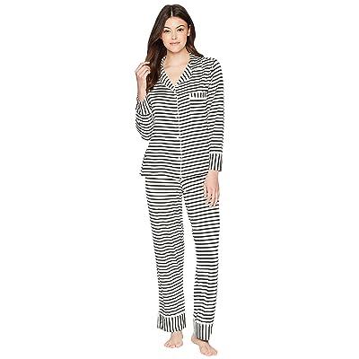 Maison Du Soir Monaco PJ Set (Pearl Stripe) Women