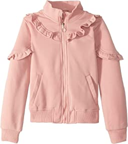 Selena Fleece Bomber Jacket w/ Ruffles (Little Kids/Big Kids)